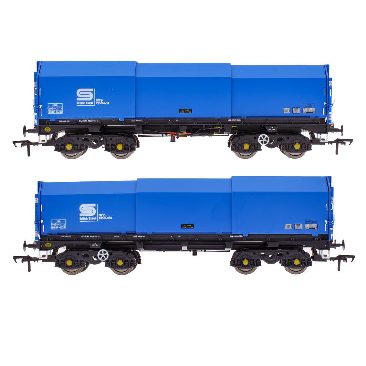 Accurascale JSA Bogie Covered Steel Wagon Twin Pack - British Steel 2 (PRE-ORDER ONLY)