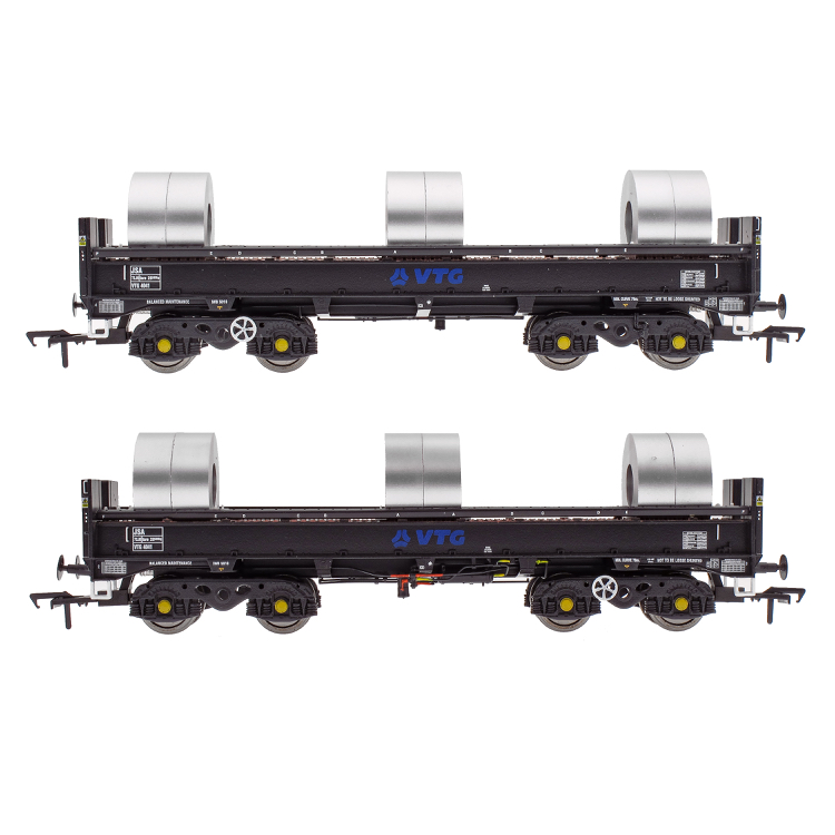Accurascale JSA Bogie Open Steel Wagon Twin Pack - VTG 3 (PRE-ORDER ONLY)