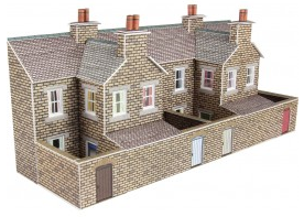 Metcalfe Models PN177 Low Relief Terraced House Backs (Stone)