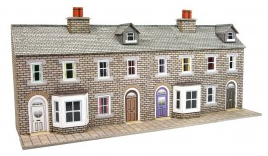 Metcalfe Models PN175 Low Relief Terraced House Fronts (Stone)