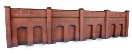 Metcalfe Models PN145 Retaining Wall (Red Brick)