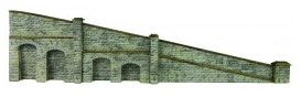 Metcalfe Models PN149 Tapered Retaining Wall (Stone)