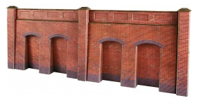 Metcalfe Models PO244 Retaining Wall (Red Brick)