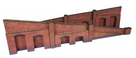 Metcalfe Models PO248 Tapered Retaining Wall (Red Brick)
