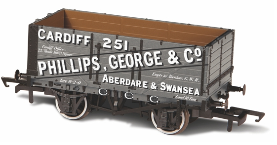 Oxford Rail OR76MW7019 7 Plank Wagon George & Co 251