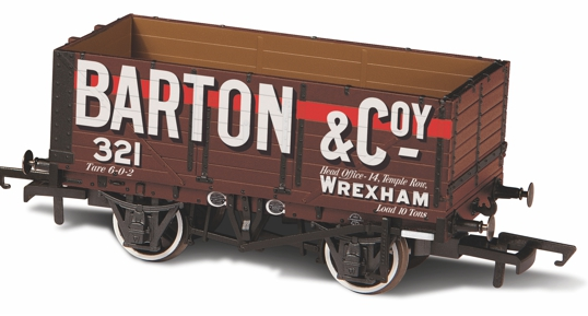 Oxford Rail OR76MW7020 7 Plank Wagon Barton and Co No. 321
