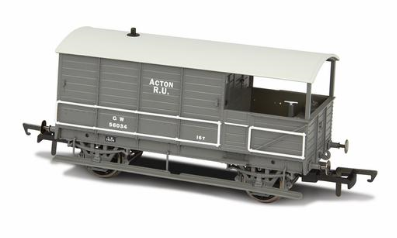 Oxford Rail OR76TOB002 GWR Toad 4 Wheel Plated (late) Acton GWR Grey