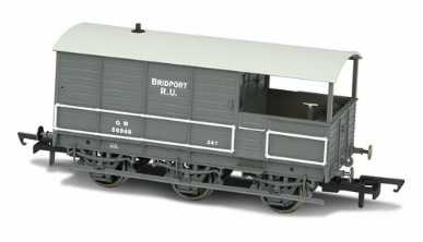 Oxford Rail OR76TOA002 GWR Toad 6 Wheel Plated (late) Bridport GWR Grey