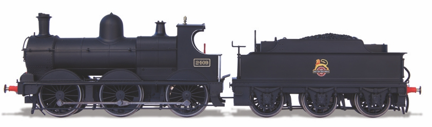 Oxford Rail OR76DG002XS 'Dean Goods' 2301 Class 0-6-0 2409 BR Unlined Black with early crest (DCC Sound)