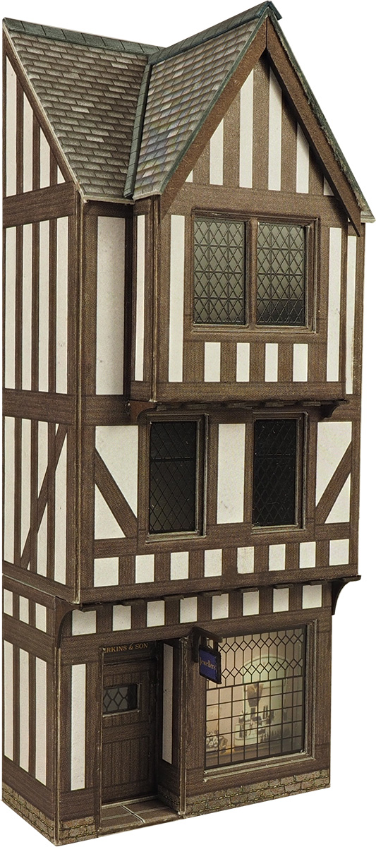Metcalfe Models PO421 L/R Timber framed shop (midi kit)