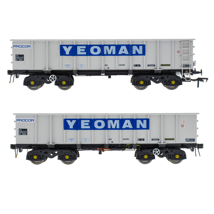 Accurascale PTA/JTA+JUA Bogie Tippler Pack - Yeoman [Procor] Grey / Ivory - Outer Pack (PRE-ORDER ONLY)