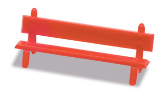Peco LK-26 Platform Seats, red
