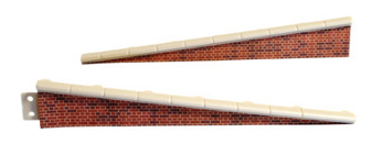 Peco LK-66 Platform Edging Ramps, brick type