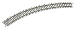 Peco ST-221 No.1 Radius Double Curve, 371mm (14 inches) radius