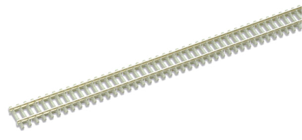 Peco SL-302b Concrete sleeper type Code 80, Nickel Silver Rail - 914mm length x25