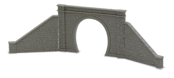 Peco NB-31 Tunnel Mouth & Walls, stone type, single track