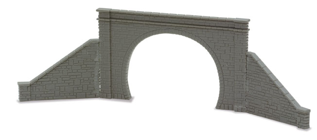 Peco NB-32 Tunnel Mouth & Walls, stone type, double track