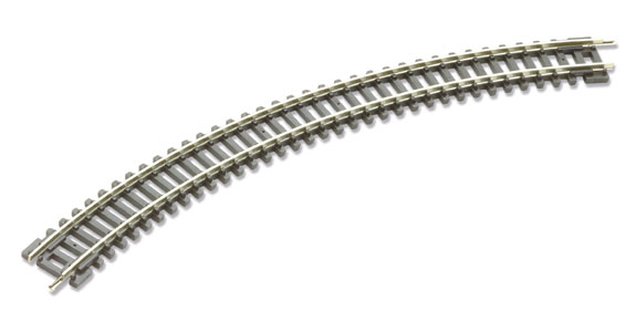 Peco ST-12 No.1 Radius Double Curve, 228mm ( inches) radius