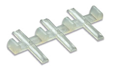 Peco SL-711FB Rail Joiners, insulated, for flat bottom rail (Code 143)