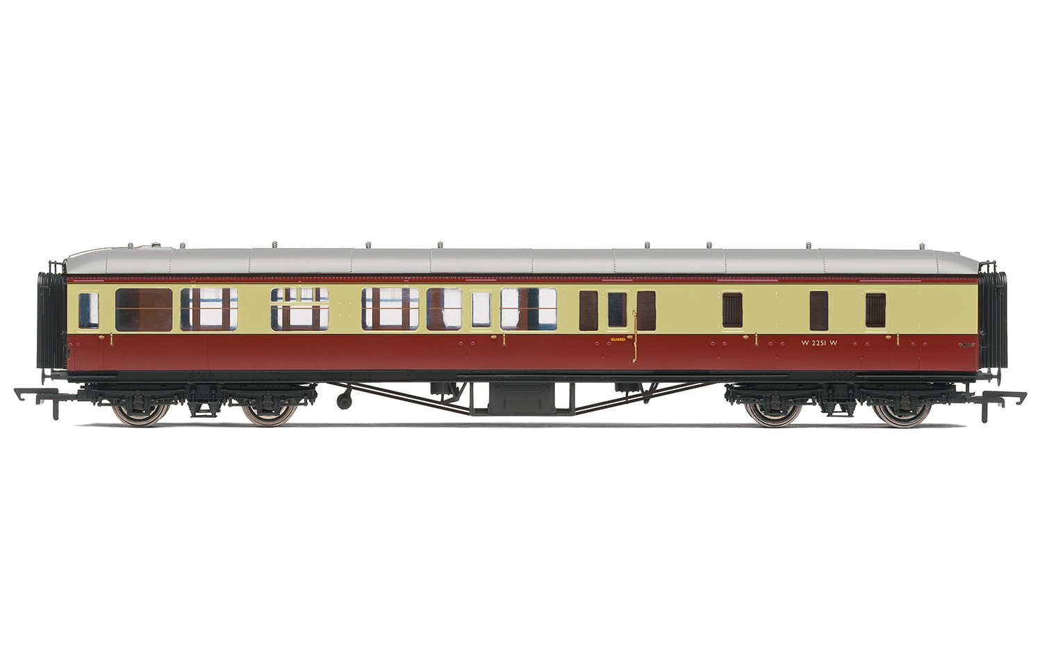 Hornby R4406B BR Hawksworth Brake 3rd Class Coach W2251W - Click Image to Close
