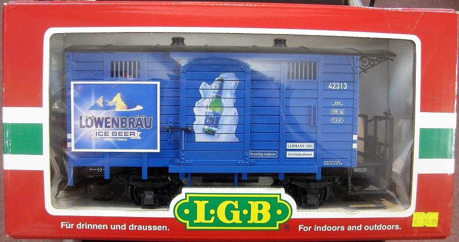 LGB 42313 Löwenbräu Ice Beer Box Wagon - (second hand)
