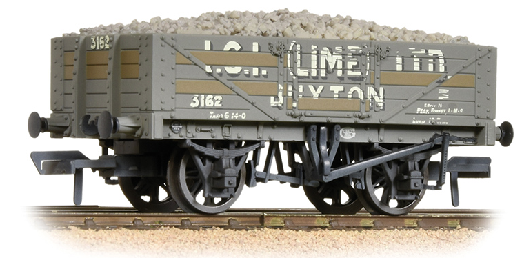 Bachmann 37-040 5 plank wagon 'ICI (Lime)' (weathered)