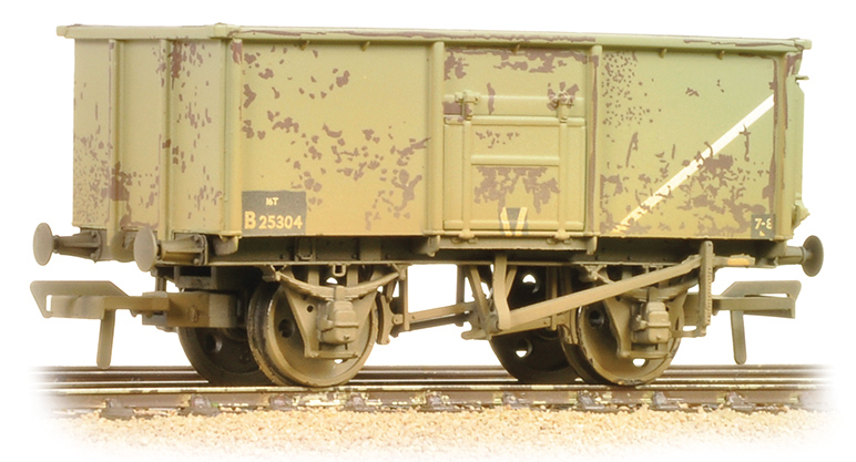 Bachmann 37-253B 16t Steel Mineral Wagon BR Grey (weathered)