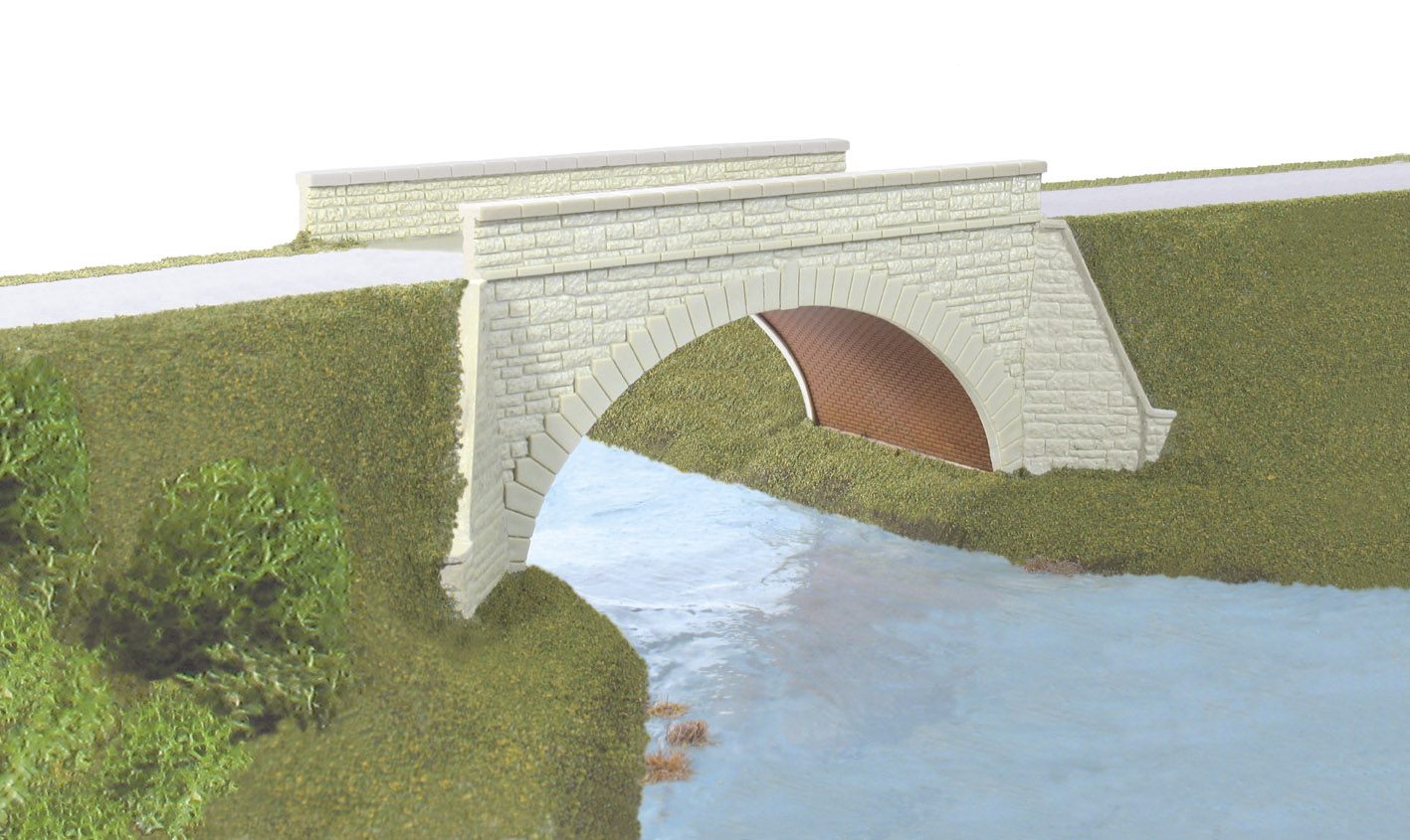 Wills SS28 Occupational Bridge & Stone Abutments, Single Track