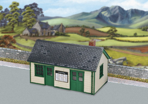 Wills SS67 Wayside Station, Timber, Slate Roof, Brick Chimney