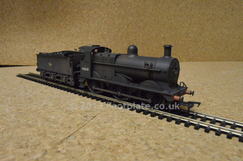 Bachmann 31-628DC Class 3F 0-6-0 43620 BR Black L/C (weathered) DCC Fitted