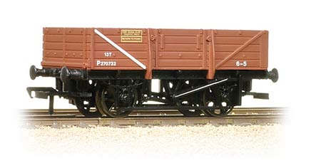 Bachmann 33-083 5 Plank China Clay Wagon without Hood BR Bauxite