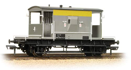 Bachmann 37-533 20t ZTO Brake Van BR Grey & Yellow (Dutch) Weathered