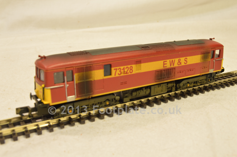 Dapol ND-005W Class 73 73128 EWS (Hand Weathered)