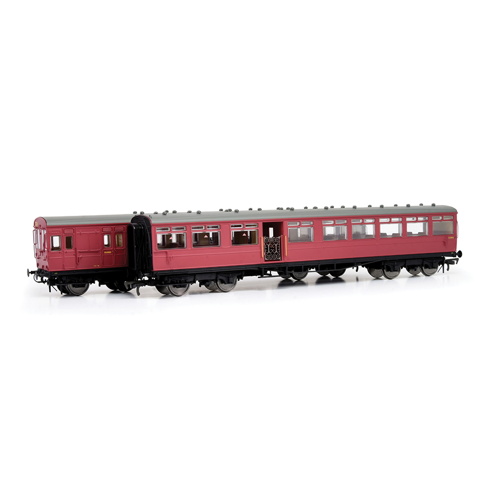EFE Rail E86001 LSWR 'Gate Stock' 2-Coach Set BR Crimson