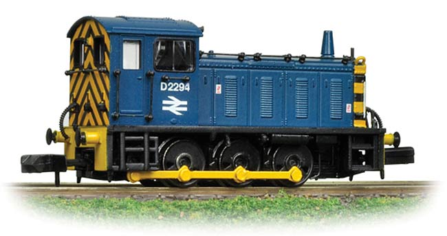 Graham Farish 371-015B Class 08 08856 BR Blue with Wasp Stripes