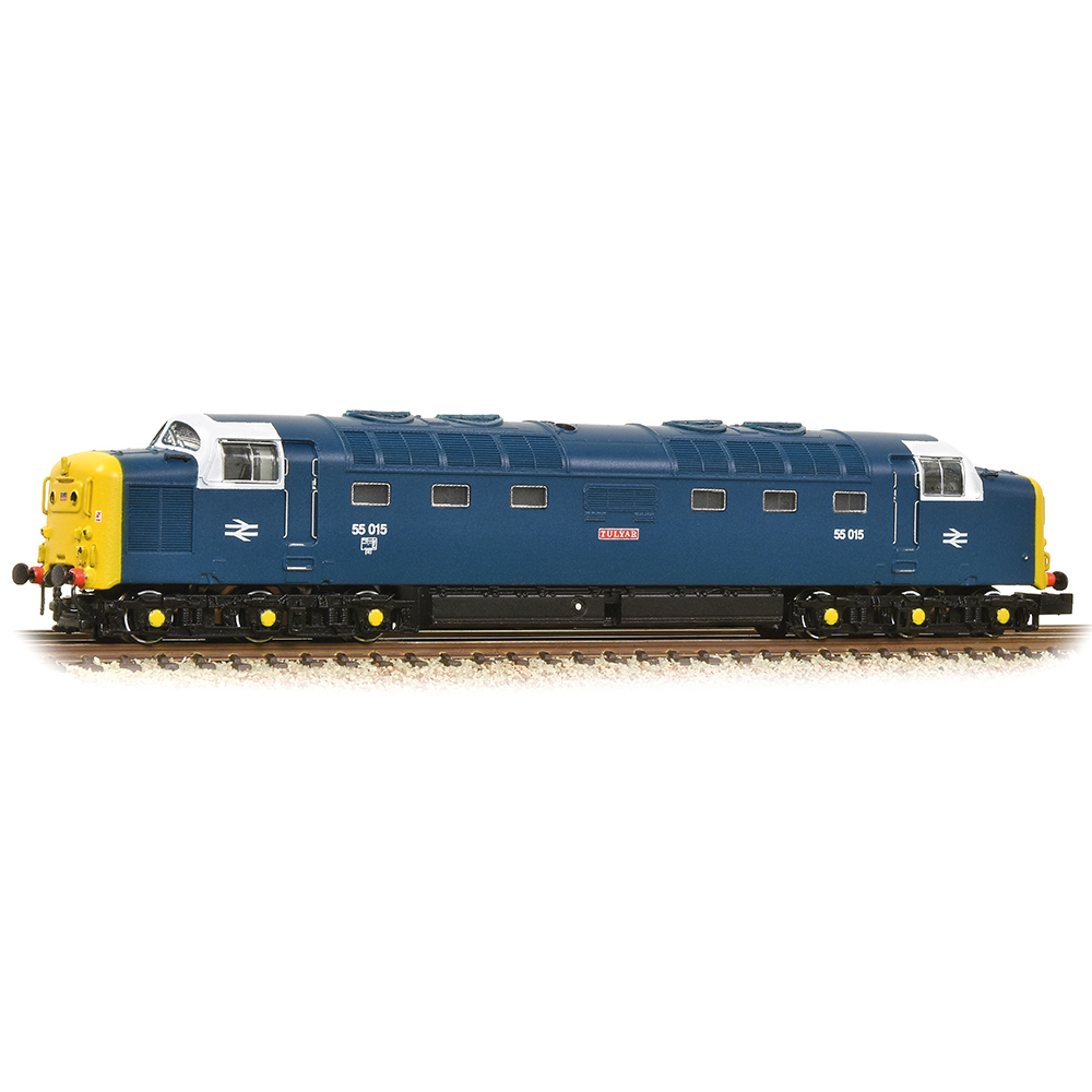 Graham Farish 371-288 Class 55 'Deltic' 55015 'Tulyar' BR Blue With White Cab Window Surrounds