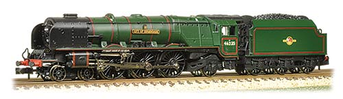 Graham Farish 372-182 Princess Coronation Class 4-6-2 46235 'City of Birmingham' BR green with late crest