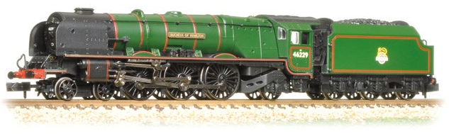 Graham Farish 372-181 Class 8P Duchess 4-6-2 46229 'Duchess of Hamilton' BR Green with early crest