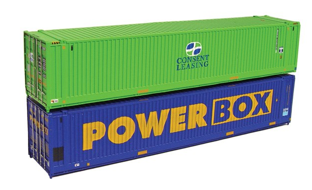 Graham Farish 379-372 45ft Containers 'Powerbox & Consent Leasing' (x2)