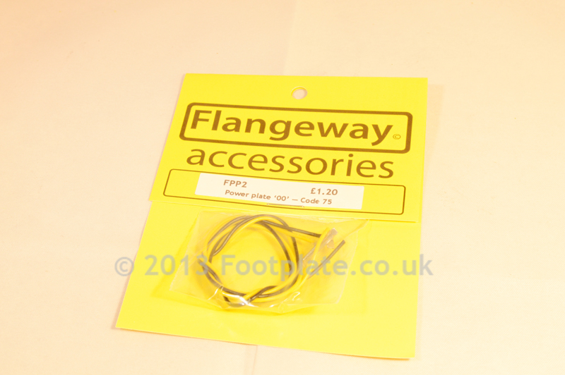 Flangeway FPP2 Power Plate '00' - Code 75 - Rail joiners with power feeds