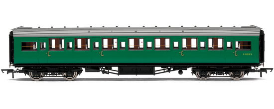 Hornby R4302C Maunsell Corridor 3rd Coach S1186S BR (SR) Green