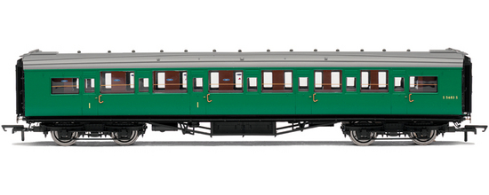 Hornby R4304C Maunsell Corridor Comp Coach S5646S BR (SR) Green