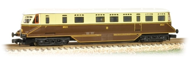 Bachmann 371-629 GWR Railcar 20 GWR Chocolate & Cream shirt button emblem