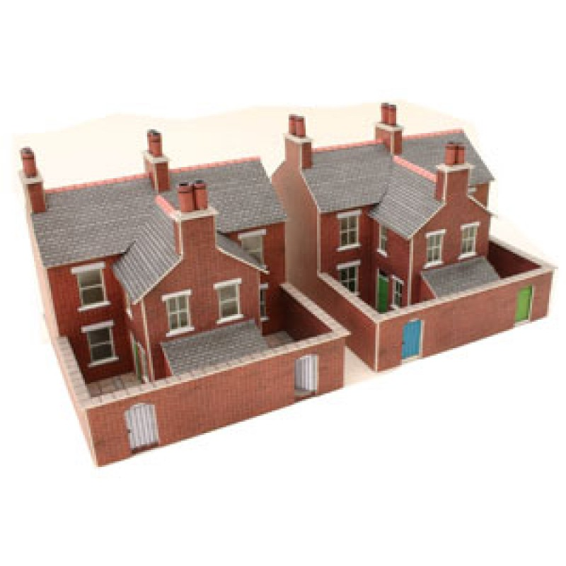 Metcalfe Models PN103 Red Brick Terraced Houses