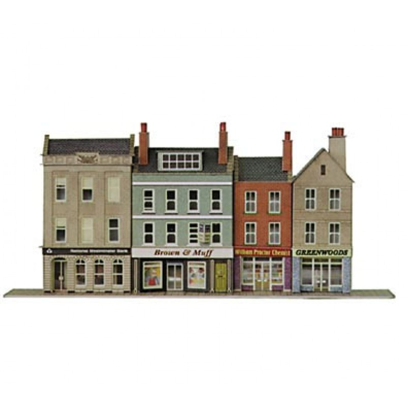 Metcalfe Models PN106 Low-Relief High Street Bank & Shops