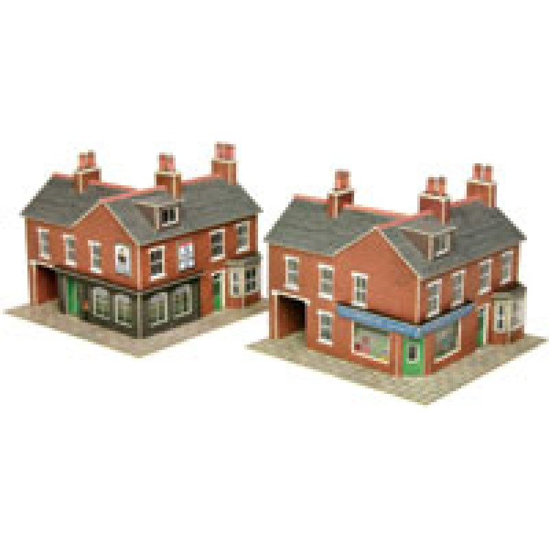 Metcalfe Models PN116 Corner Shops, Red Brick