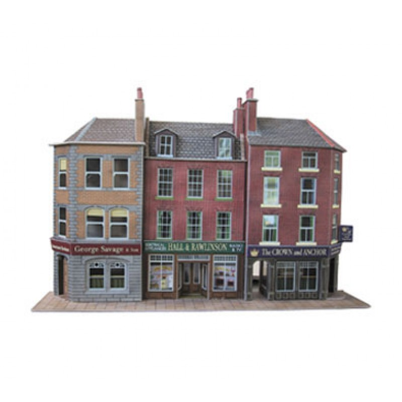 Metcalfe Models PO205 Low-Relief Pub & Shops