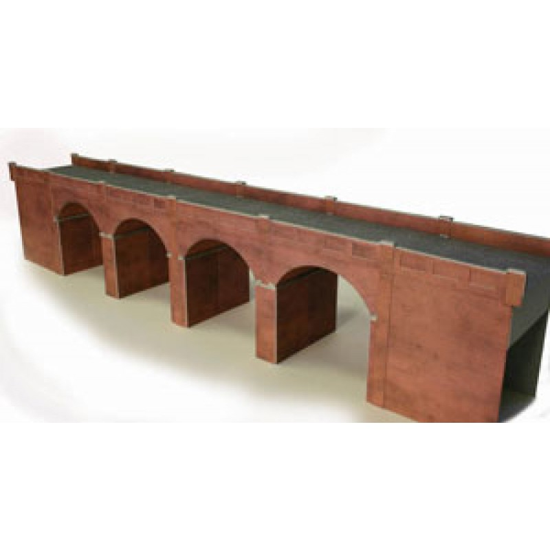 Metcalfe Models PO240 Double Track Viaduct, Red Brick