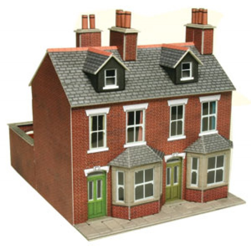 Metcalfe Models PO261 Red Brick Terraced Houses