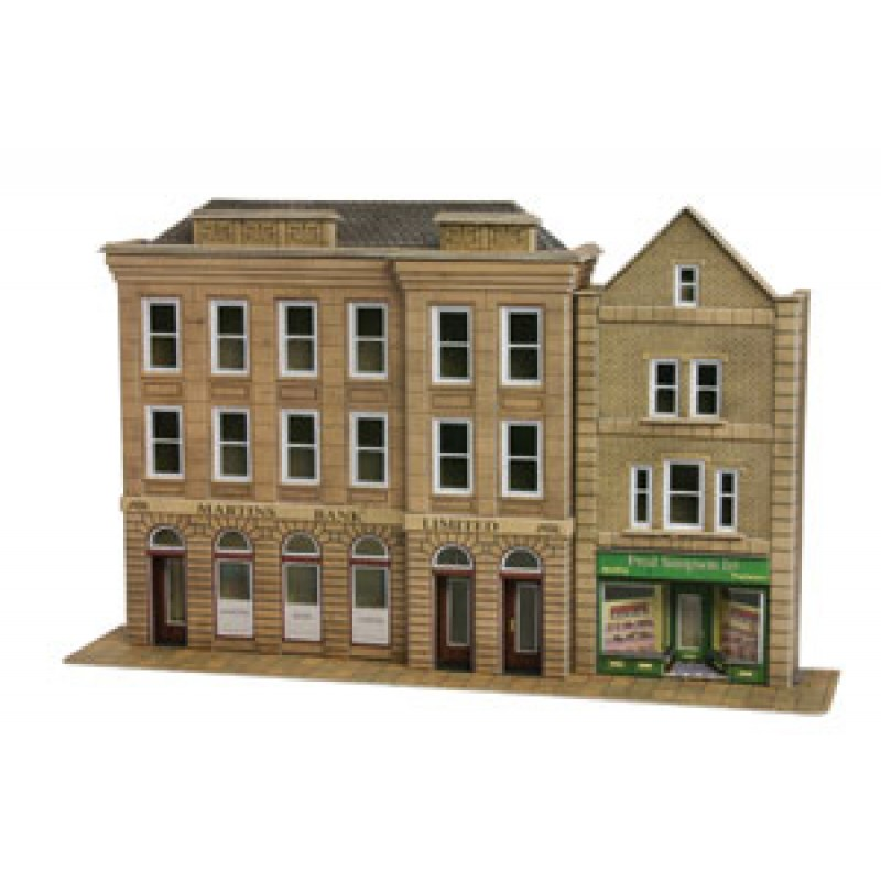 Metcalfe Models PO271 Low-Relief Bank & Shops